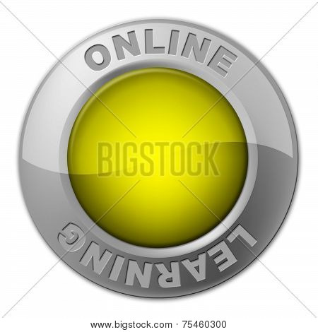 Online Button Represents World Wide Web And Knob