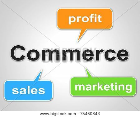 Commerce Words Shows Export Commercial And Buying
