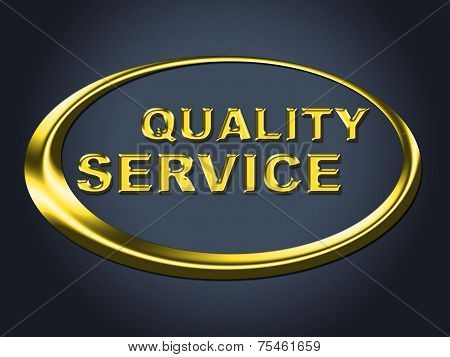 Quality Service Sign Represents Help Desk And Advice
