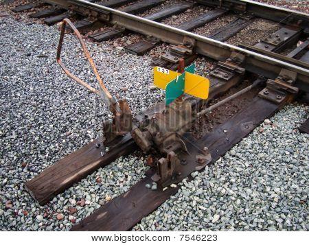Railroad track switch stand