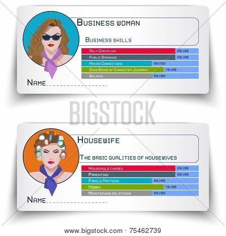 A Business Woman And A Housewife, Ellement Infographic