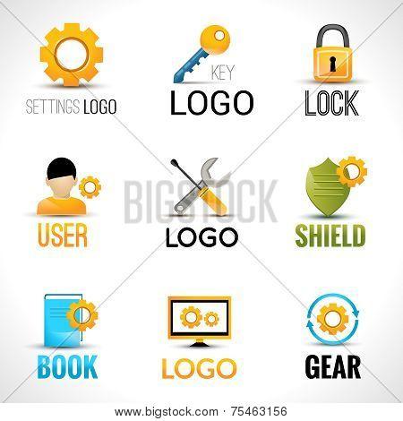 Settings logo set