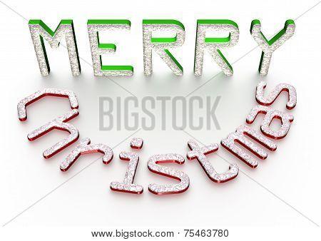 3d text Merry Cristmas.