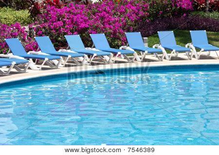 luxury poolside