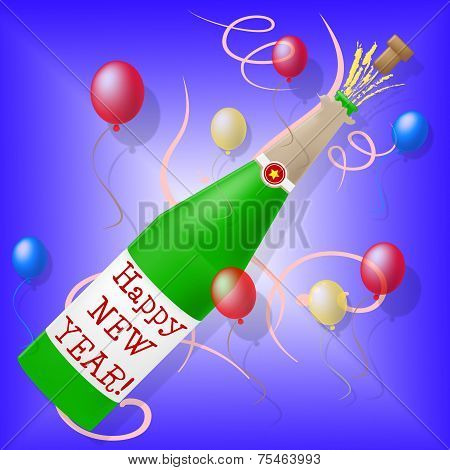 Happy New Year Shows Parties Celebration And New-year
