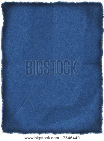 Wrinkled Blue Jeans Patch