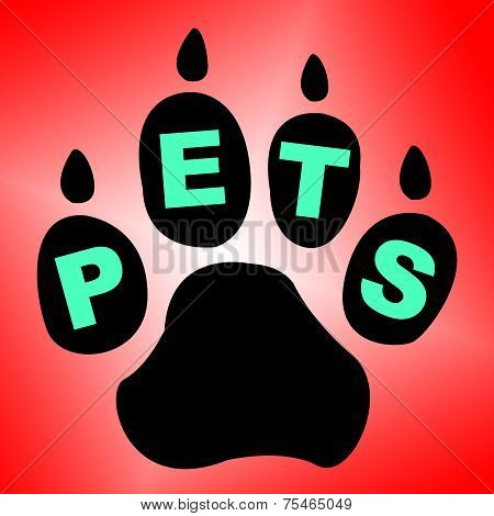 Pets Paw Means Domestic Animal And Breed