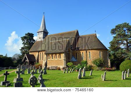 Hascombe Village Church & Graveyard, Surrey, Uk.