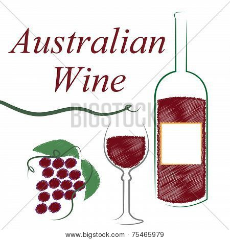 Wine Australian Shows Alcoholic Drink And Winetasting