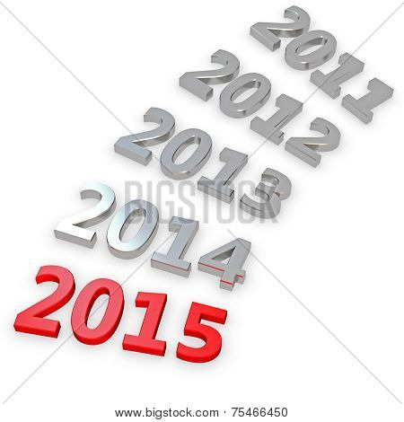 3D Happy New Year 2015