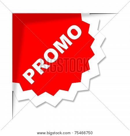 Promo Label Represents Merchandise Clearance And Discount