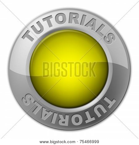 Tutorials Button Shows Learn Train And University