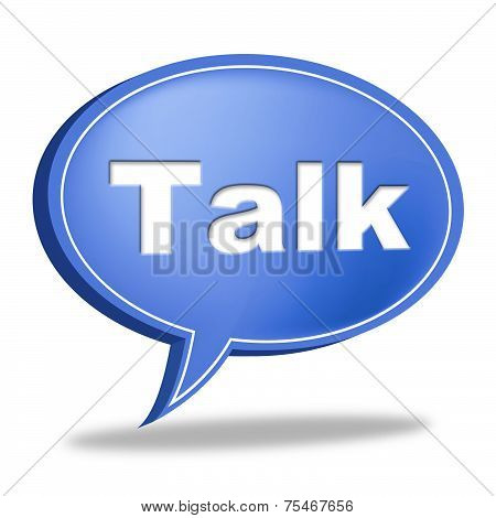 Talk Message Shows Correspond Communicate And Debate