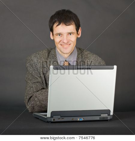 Young Man With Computer