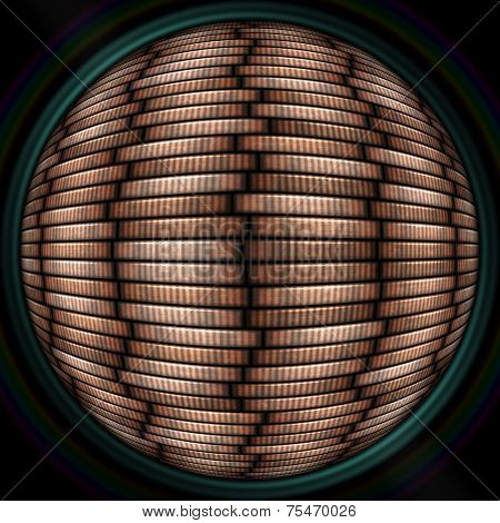 Coin Stack Seamless Texture In Objectiv Or Lens