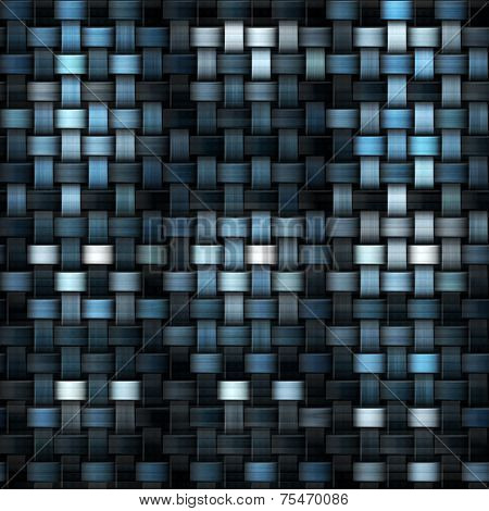 Fabric Texture Or Knitwear In Blue And Black