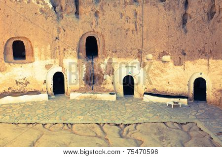 Matmata, Tunisia. The Largest Region Of The Troglodyte Communities. One Of Many Dwellings - Fragment