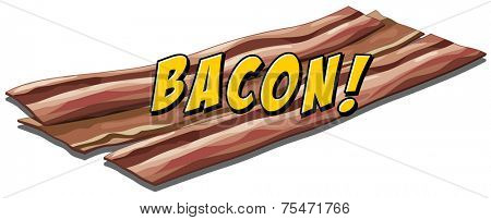 Bacon flavour icon with text