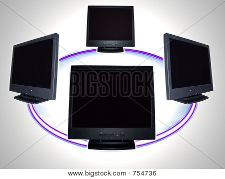 computer monitor - computer network