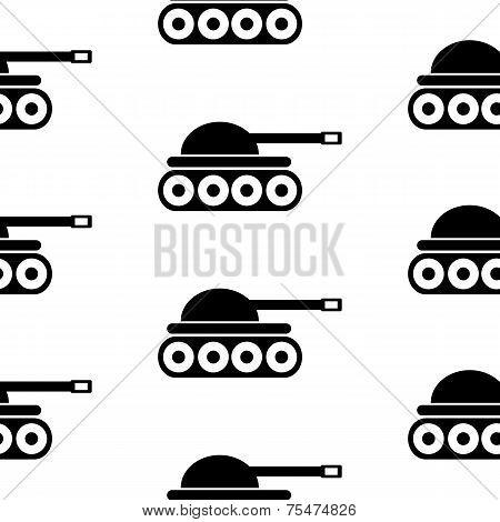 Panzer Symbol Seamless Pattern