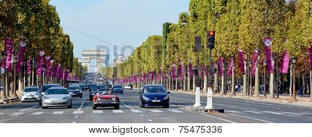 The Champs-Elysees and  the Triumphal Arch