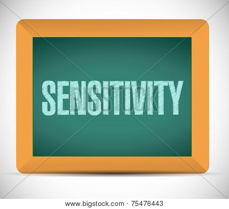 Sensitivity Message Sign Illustration