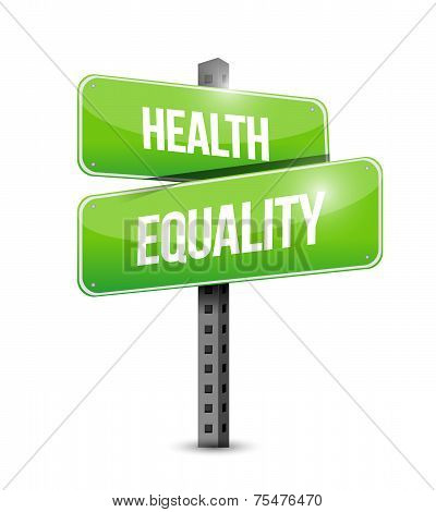 Health Equality Street Sign Illustration