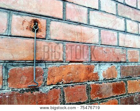 Red Brick Wall With Latch