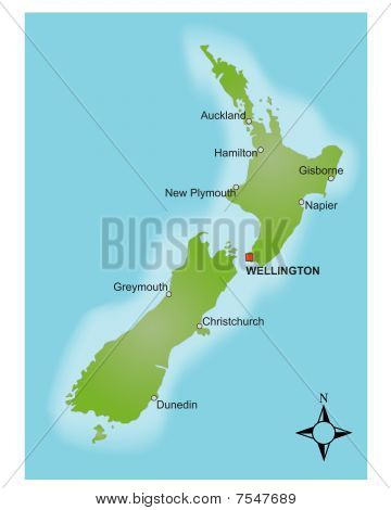 Map New Zealand