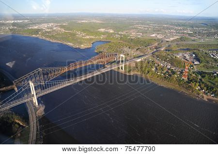 Aerial View Of Quebec City Area