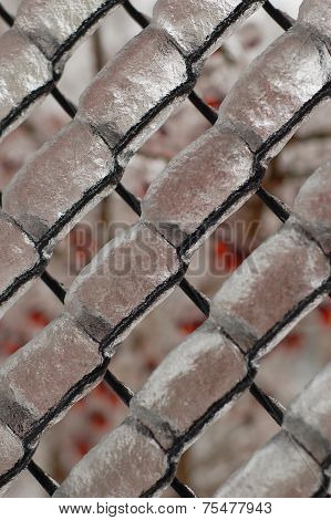 Close-up View Of Icy Netting