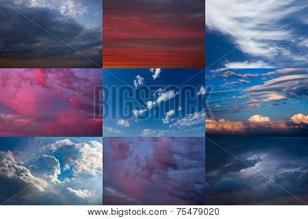 Set Of Dramatic Sky