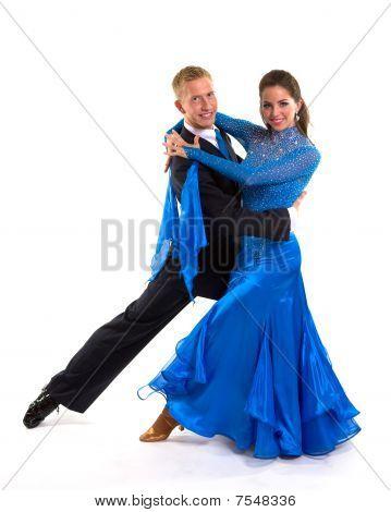 Ballroom Dancers Blue 03