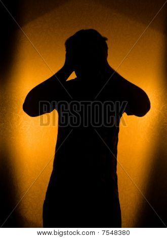 Depression And Pain - Silhouette Of Man