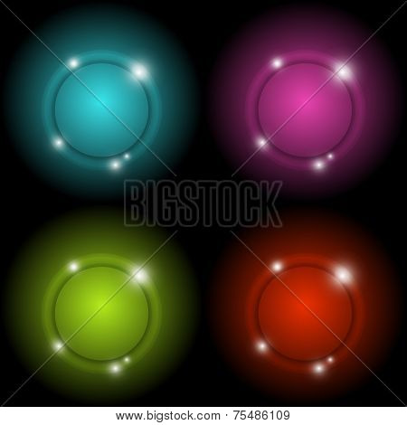Colorful Circle Glow Vector Abstract Background