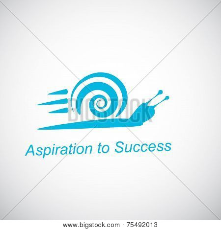 Speedy Snail - Concept Of Aspiration To Success On Gradient Background