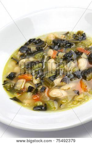 zuppa di cavolo nero, black kale soup, italian food