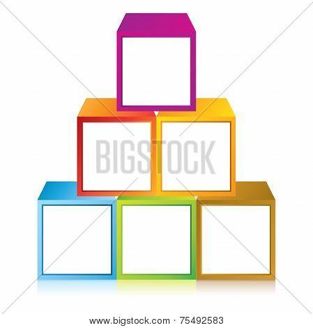 cube pyramid diagram
