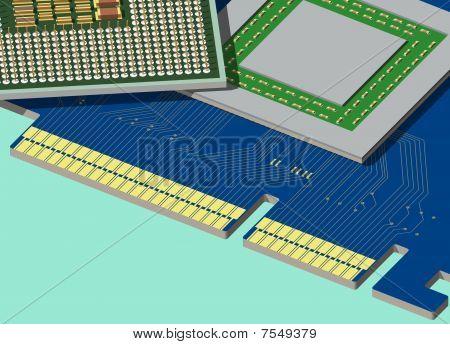 CPU und Gpu sind auf der Grafikkarte.