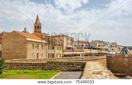 View At The Alghero From City Wall