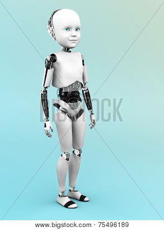 Robot Child Standing.