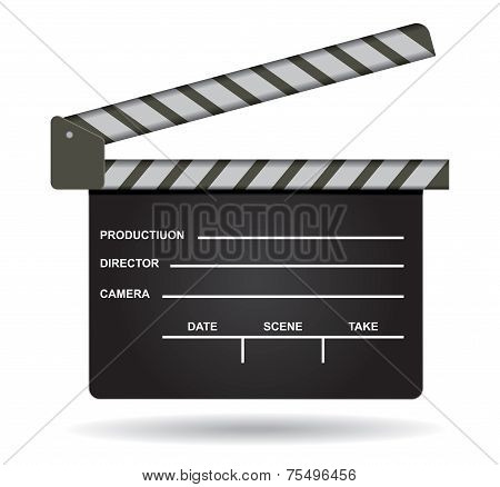 Isolated Film Clap Illustration