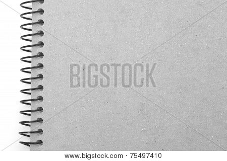 Note book cover isolated on white background