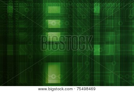 Circuitry Board with Futuristic Technology Concept Art