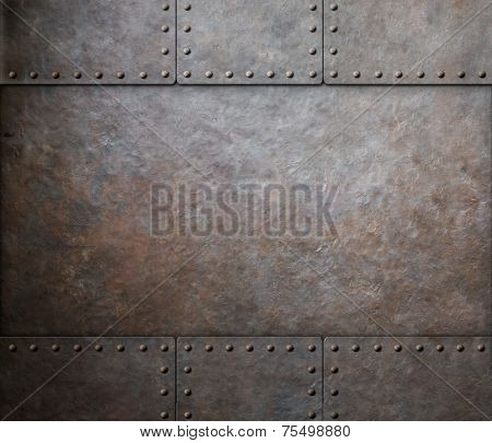 rust metal texture with rivets background