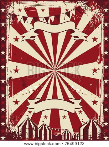 Vintage circus poster background for advertising