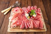 image of antipasto  - antipasti Platter of Cured Meat - JPG