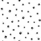picture of animal footprint  - Seamless pattern with heart shaped animal footprints - JPG