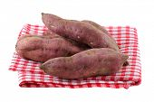 picture of ipomoea  - Raw Sweet Potato with dirt on skin - JPG