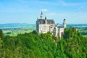 image of bavaria  - The castle of Neuschwanstein in Bavaria - JPG